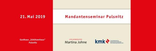 "Mandantenseminar am 21.05.2019 im Gasthaus ""Schützenhaus"", Pulsnitz"