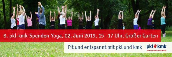 8. pkl-kmk-Spenden-Yoga am 02. Juni 2019 im Großen Garten, Dresden